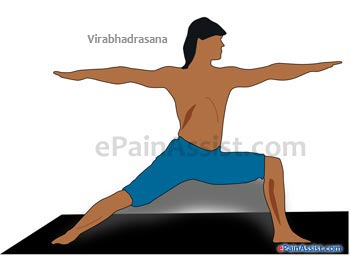 Virabhadrasana Or Warrior Pose Performed for Arthritis!