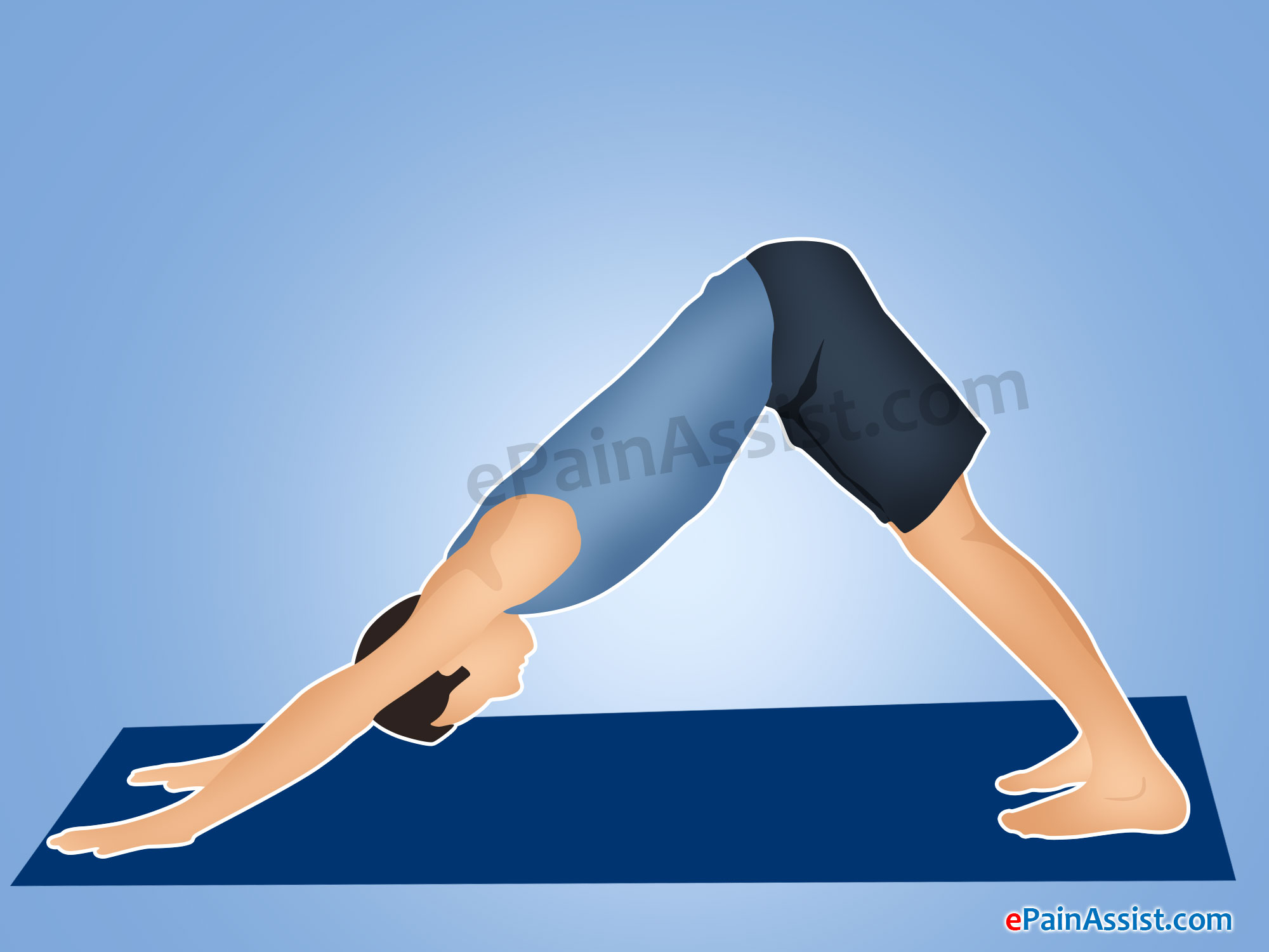 Downward Facing Dog Pose or Adho Mukha Svanasana To Provide Relief from Fibromyalgia Pain
