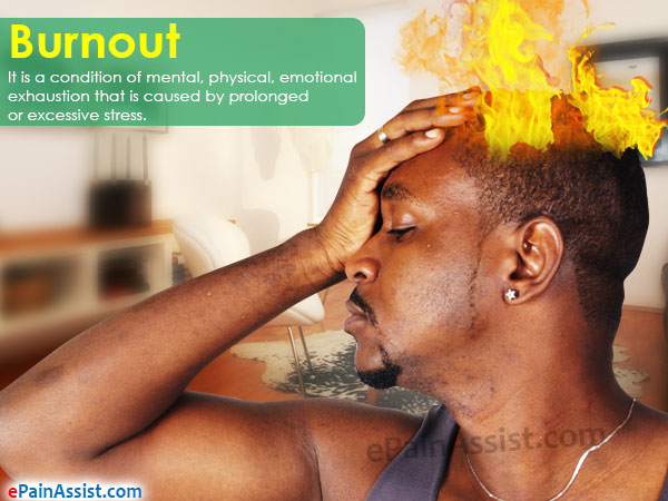 Burnout is a Result of Prolonged or Excessive Stress