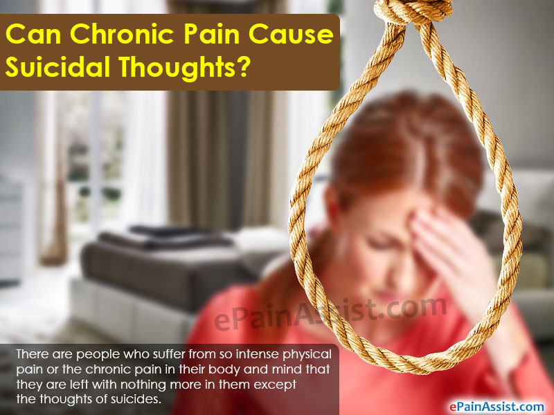 Can Chronic Pain Cause Suicidal Thoughts