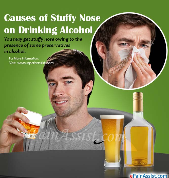 Causes of Stuffy Nose on Drinking Alcohol