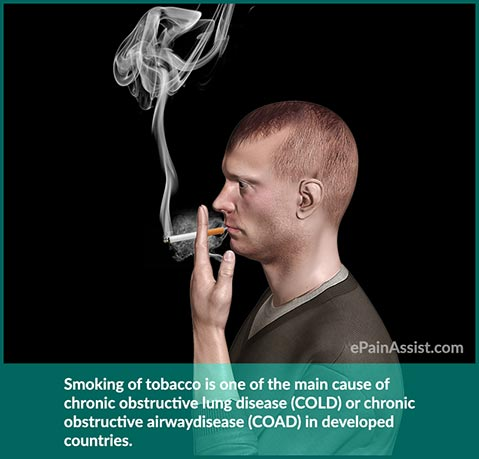 chronic obstructive lung disease or chronic obstructive airway disease