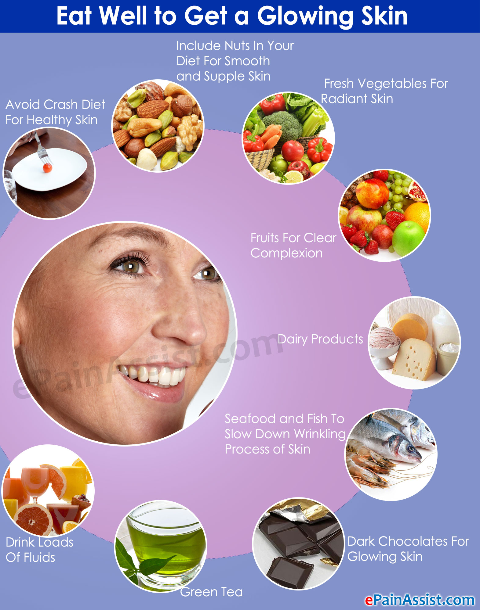 Healthy Food For Good Looking Skin
