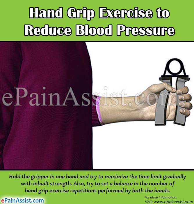 Hand Grip Exercise to Reduce Blood Pressure