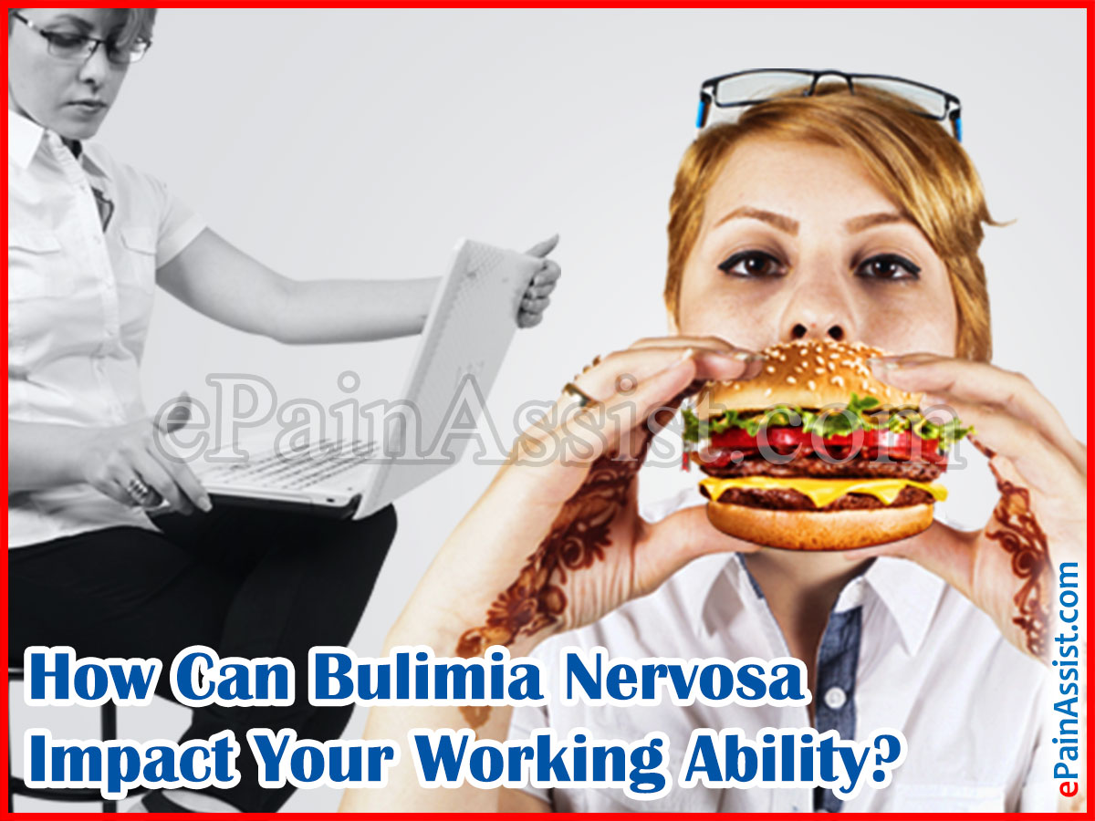 How Can Bulimia Nervosa Impact Your Working Ability