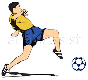 Hip flexor strain is frequently seen in kicking and running sports like soccer and football.