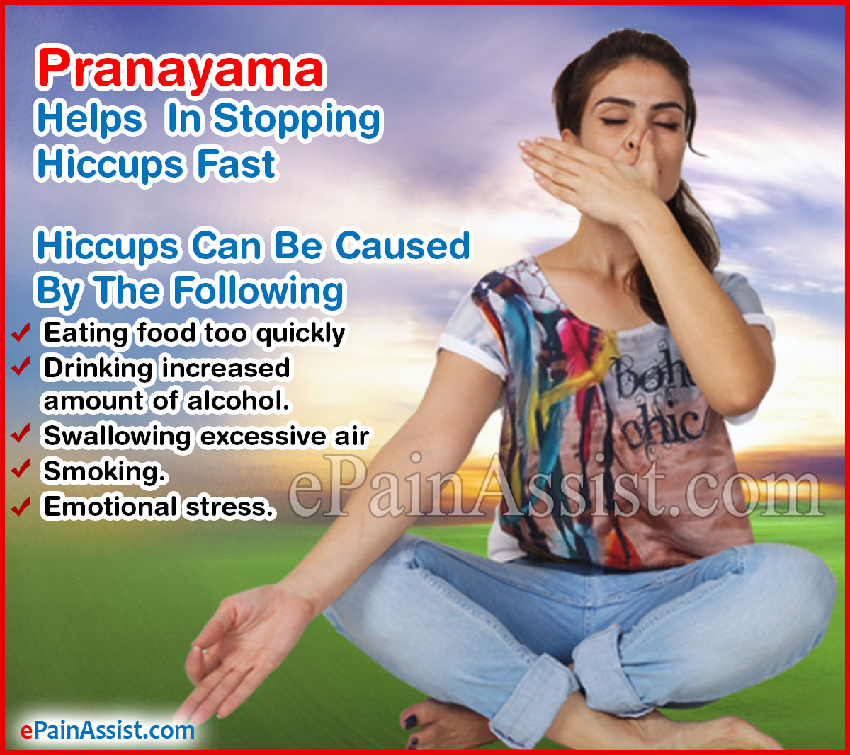 Pranayama Helps In Stopping Hiccups Fast