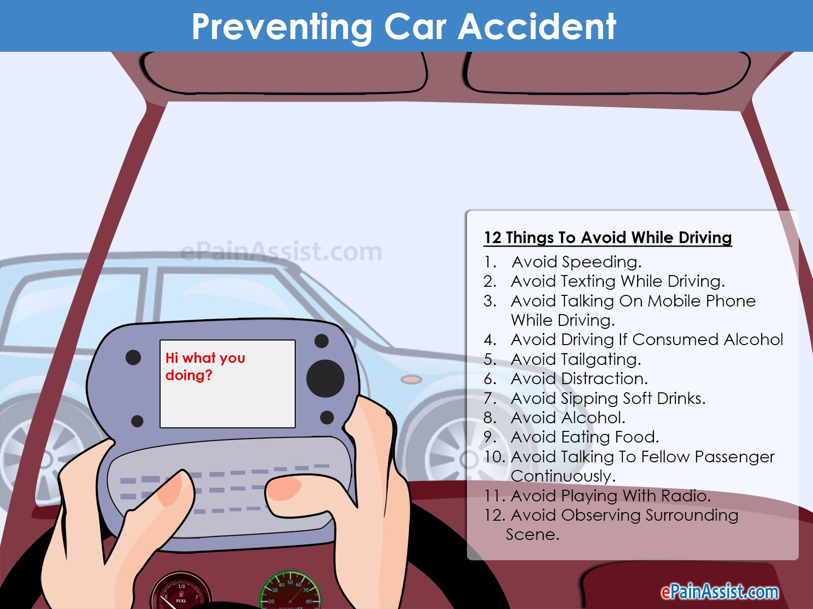 Car accident statistics causes driving tips preventing car