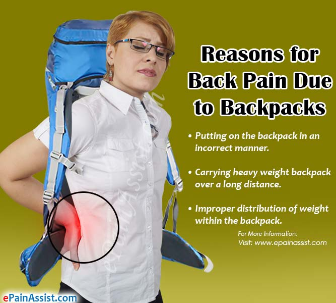 back pain due to backpack causes ways to avoid exercises warning