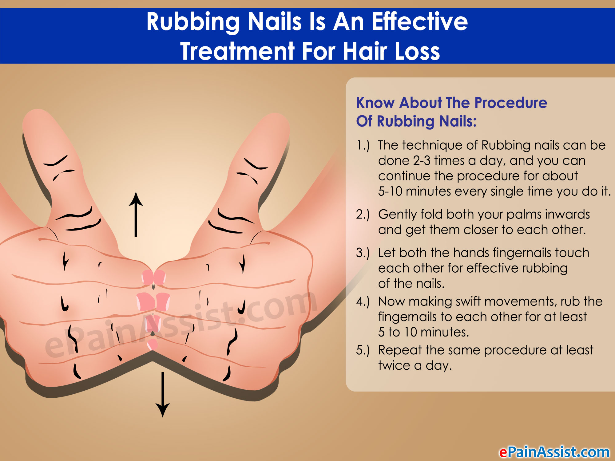 Rubbing Nails Is An Effective Treatment For Hair Loss - Infographic