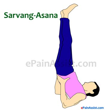 Sarvangasana or Shoulder Stand for Scoliosis or Spinal Curvature