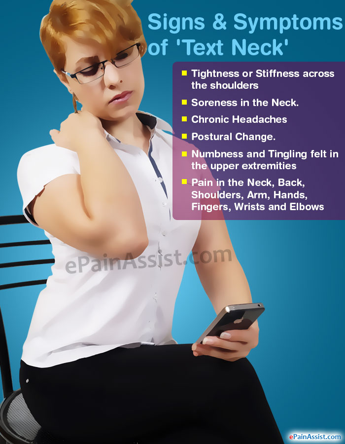 Signs & Symptoms of Text Neck