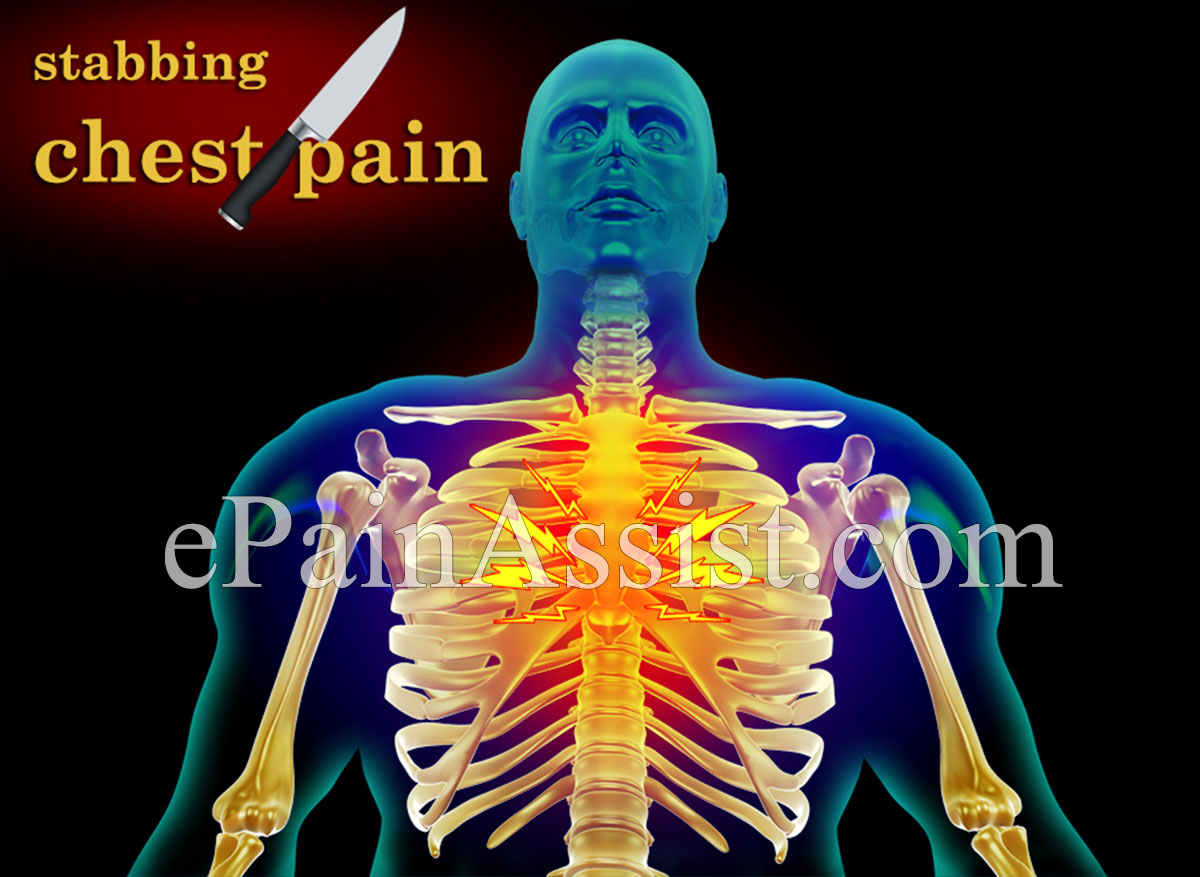 Shooting pain in chest and stomach
