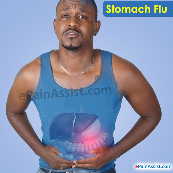 adult flu stomach