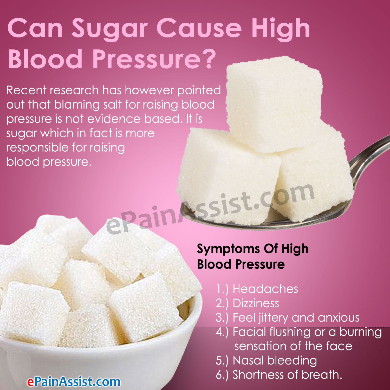Can Sugar Cause High Blood Pressure