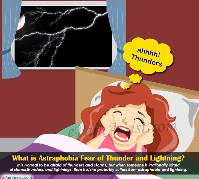 What is Astraphobia or Fear of Thunder and Lightning?