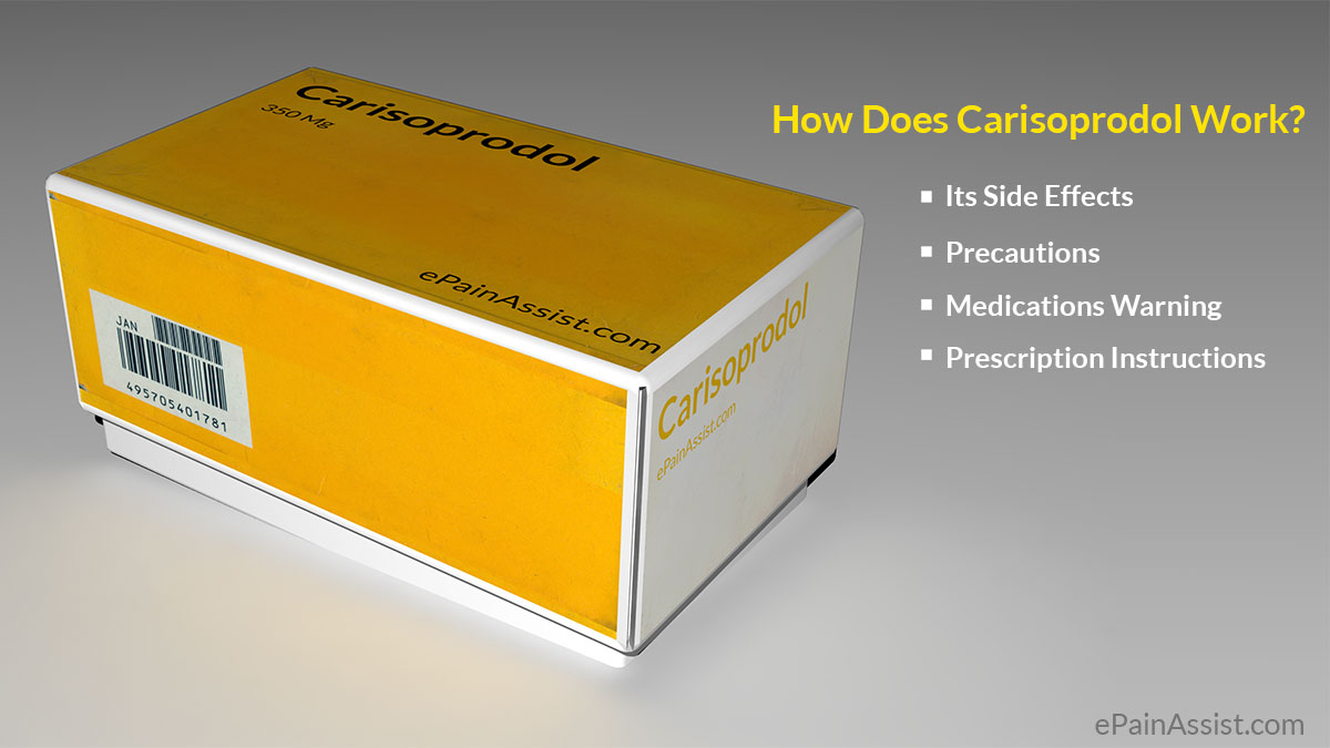 how to take carisoprodol safely?