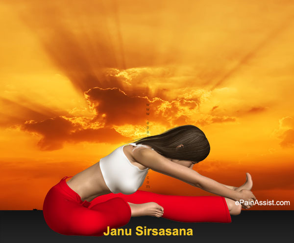 Head-to-Knee Forward Bending Pose or Janu Sirsasana to Help Overcome Sinusitis Infection