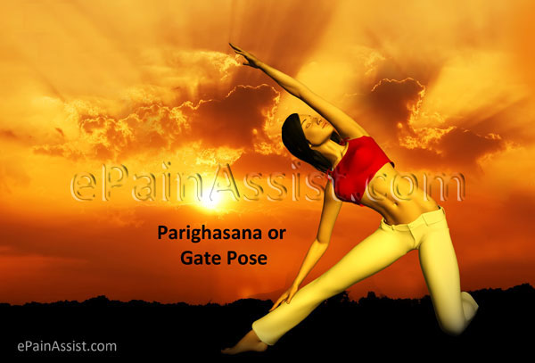 The Parighasana or Gate Pose for Stretching Stomach, Spleen and Liver