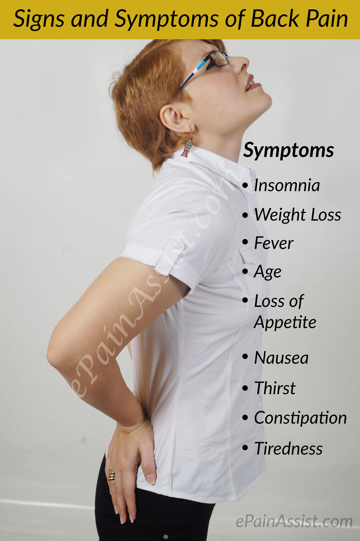 Signs and Symptoms of Back Pain or Backache
