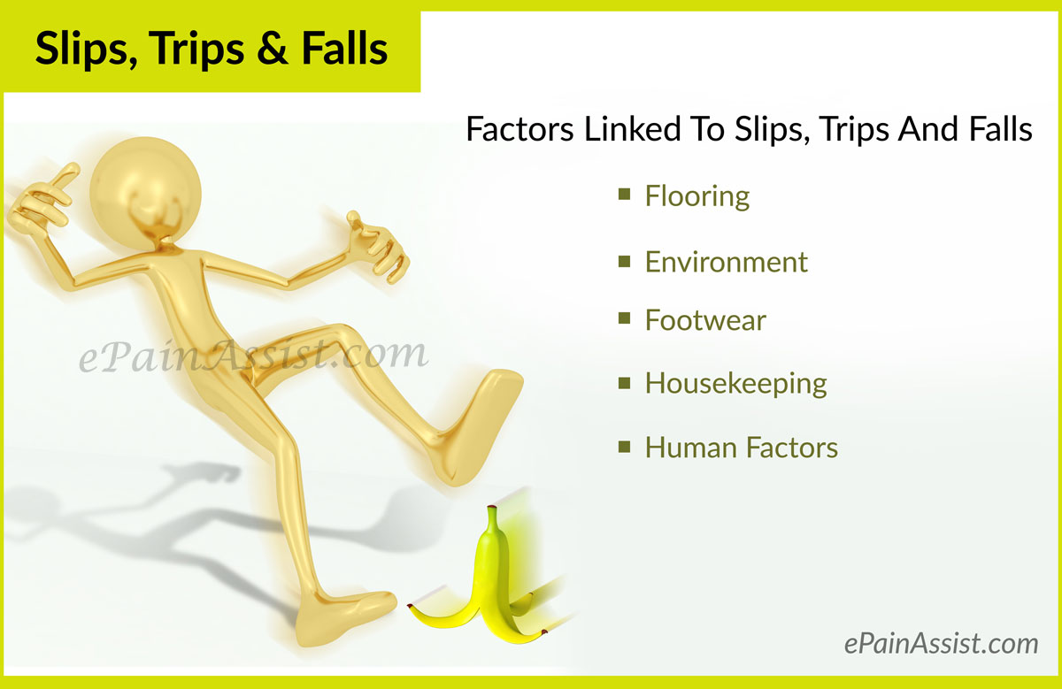Factors Linked To Slips, Trips And Falls