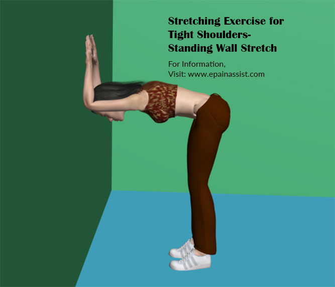 Stretching Exercise for Tight Shoulders-Standing Wall Stretch