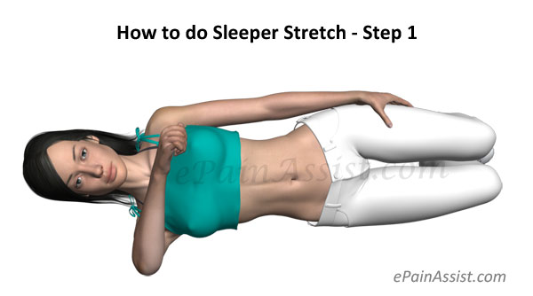 How to do Sleeper Stretch - Step 1