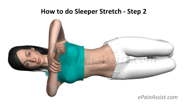 How to do Sleeper Stretch - Step 2