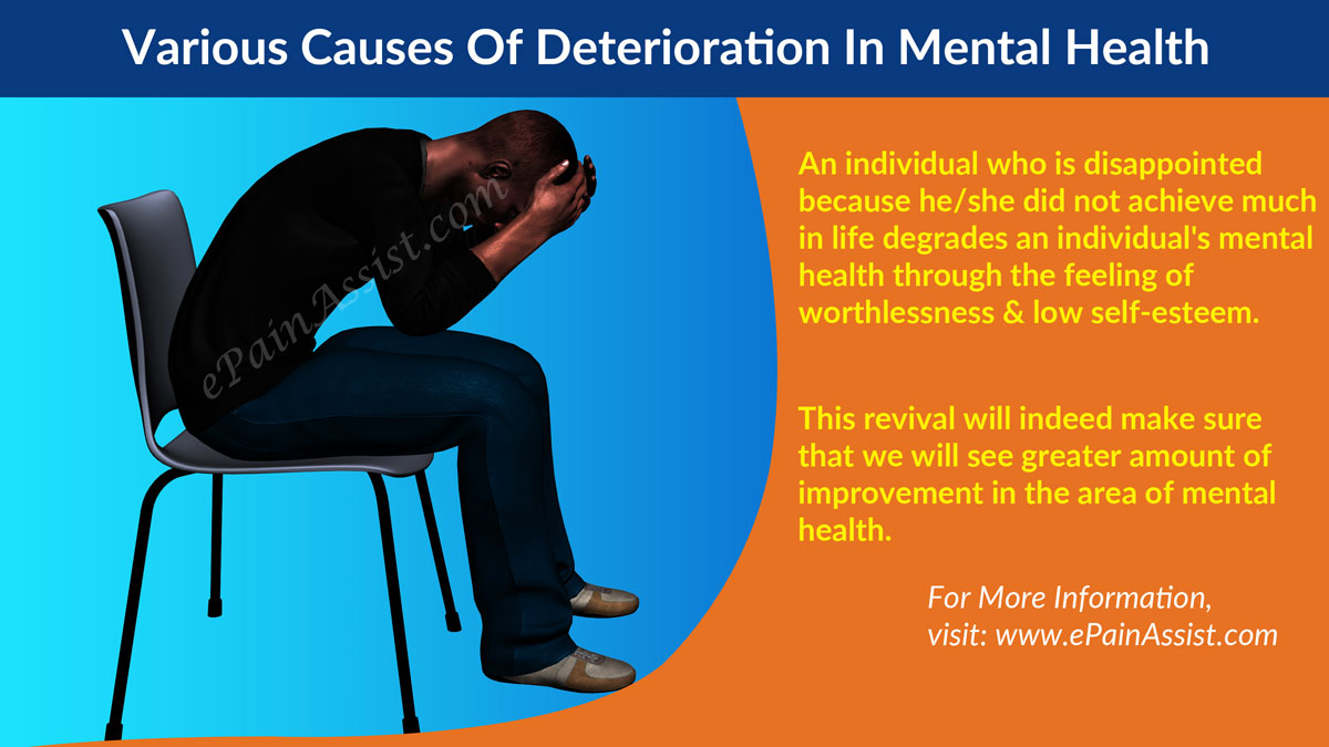 Various Causes Of Deterioration In Mental Health!