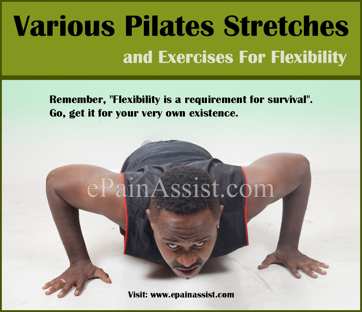 Various Pilates Stretches and Exercises For Flexibility