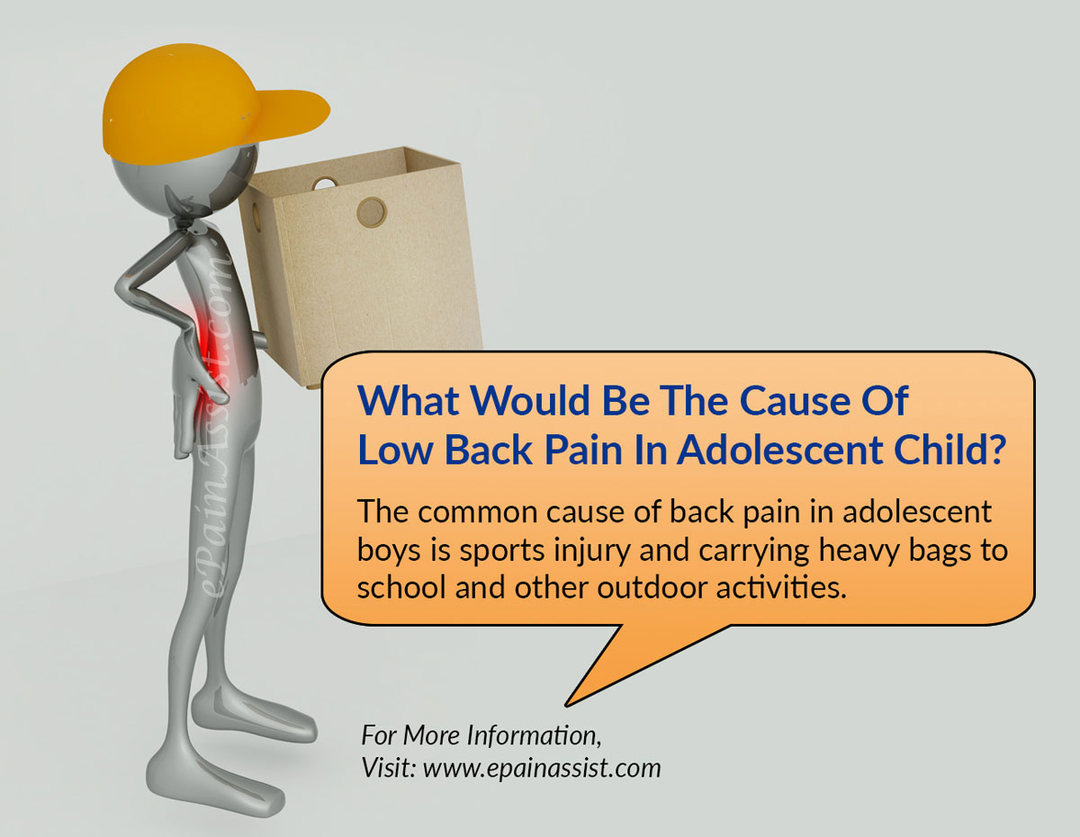 What Would Be The Cause Of Low Back Pain In Adolescent Child?
