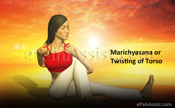 Yoga Marichyasana or Twisting of Torso for Stretching Intercostal Muscles!