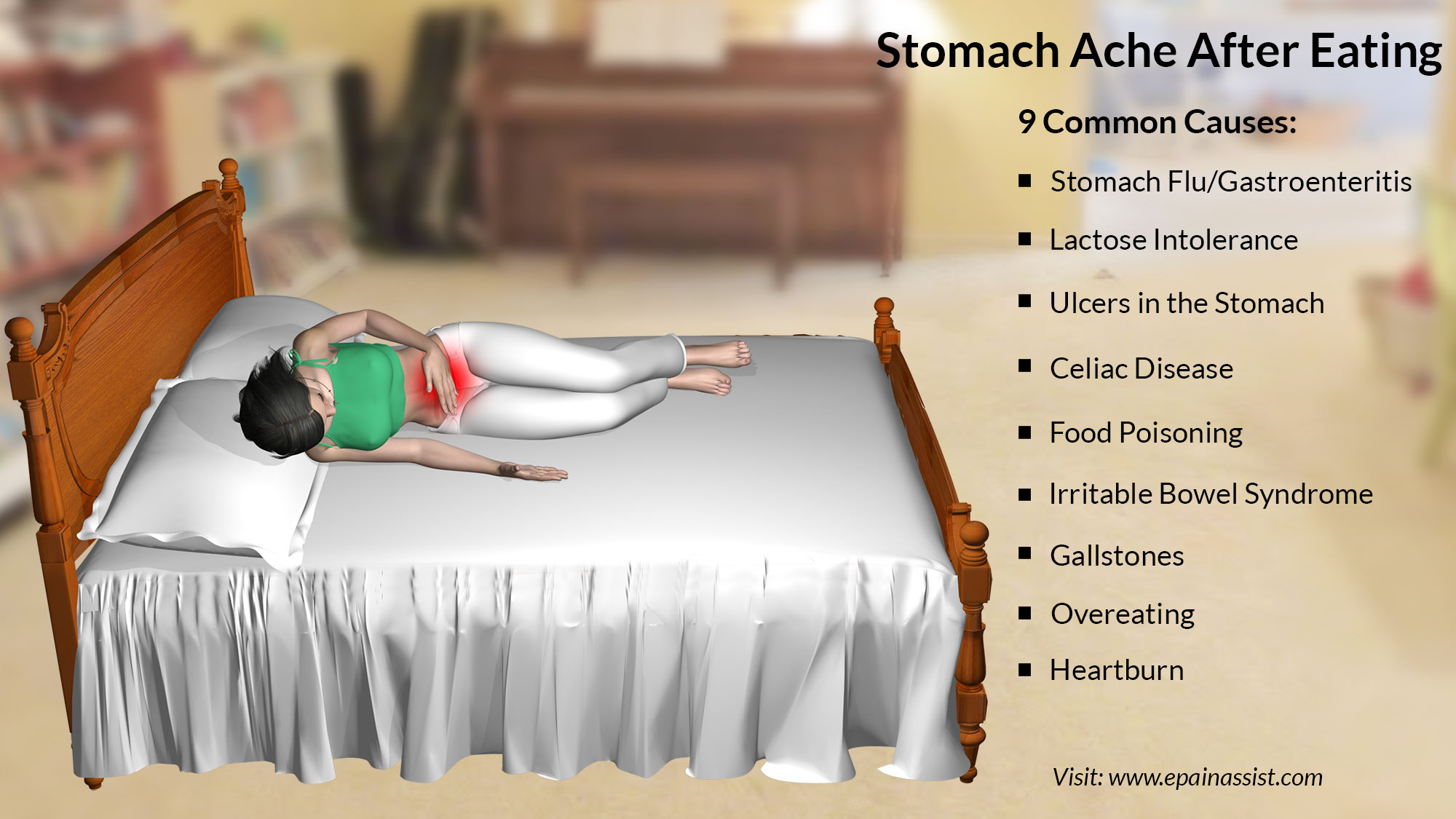 abdominal pain or stomach ache after eating: 9 common causes, Cephalic Vein