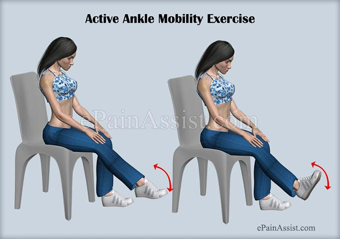 Active Ankle Mobility Exercise For Ankle Joint Ligament Injury!