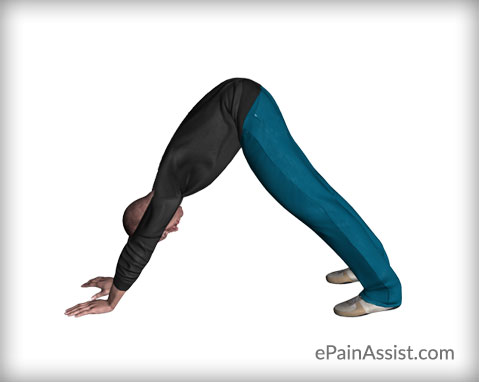 Adho Mukha Svanasana for a Knee Sprain