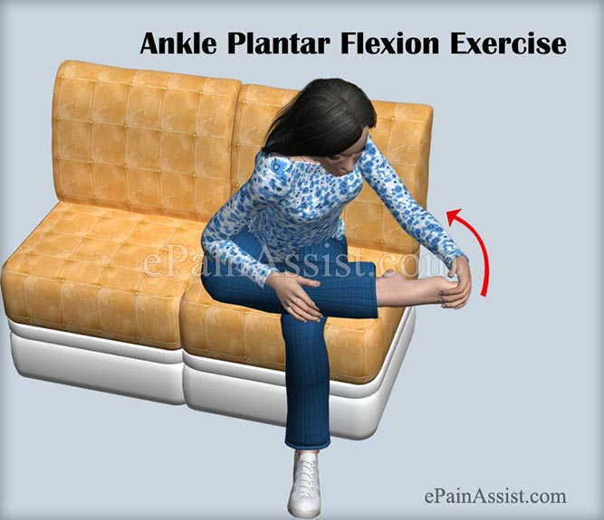 Ankle Plantar Flexion Exercise For Ankle Joint Ligament Injury!