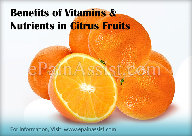 Benefits of Vitamins & Nutrients in Citrus Fruits