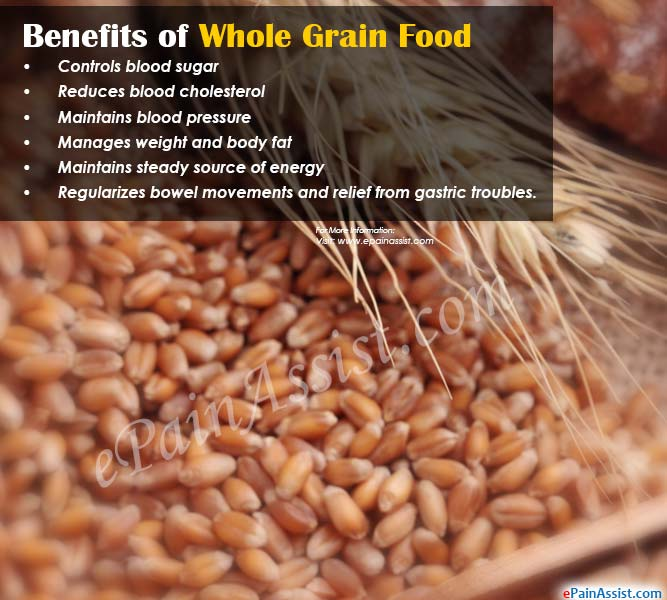 Whole Grain Rich Foods