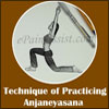Technique to do Anjaneyasana or Crescent Moon Pose & its Benefits