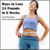 Ways to Lose 24 Pounds in 6 Weeks
