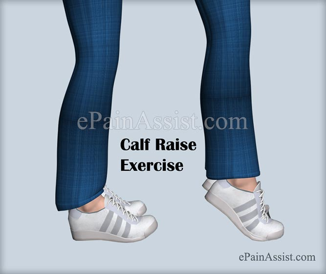 Calf Raise Exercise For Ankle Joint Ligament Injury!