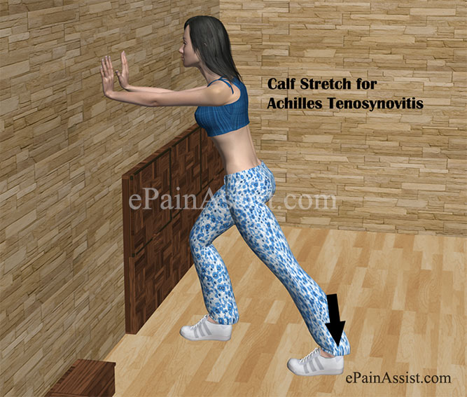 Calf Stretch for Achilles Tenosynovitis or Paratenonitis
