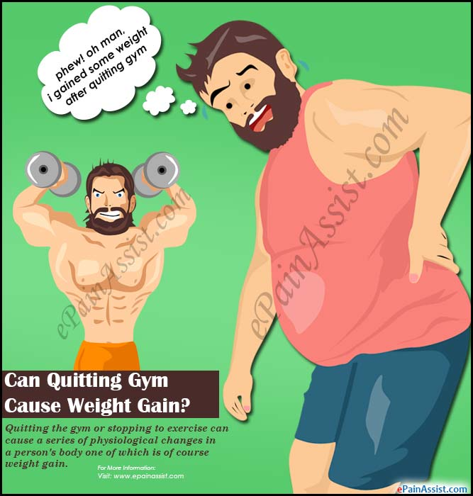Can Quitting Gym Cause Weight Gain?