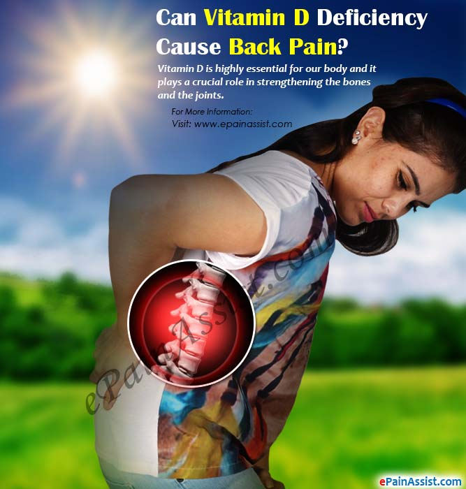 Can Vitamin D Deficiency Cause Back Pain?