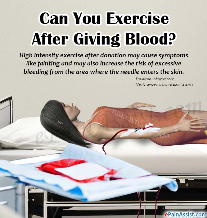 Can You Exercise After Giving Blood?
