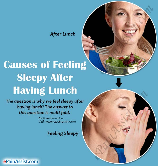 Causes of Feeling Sleepy After Having Lunch