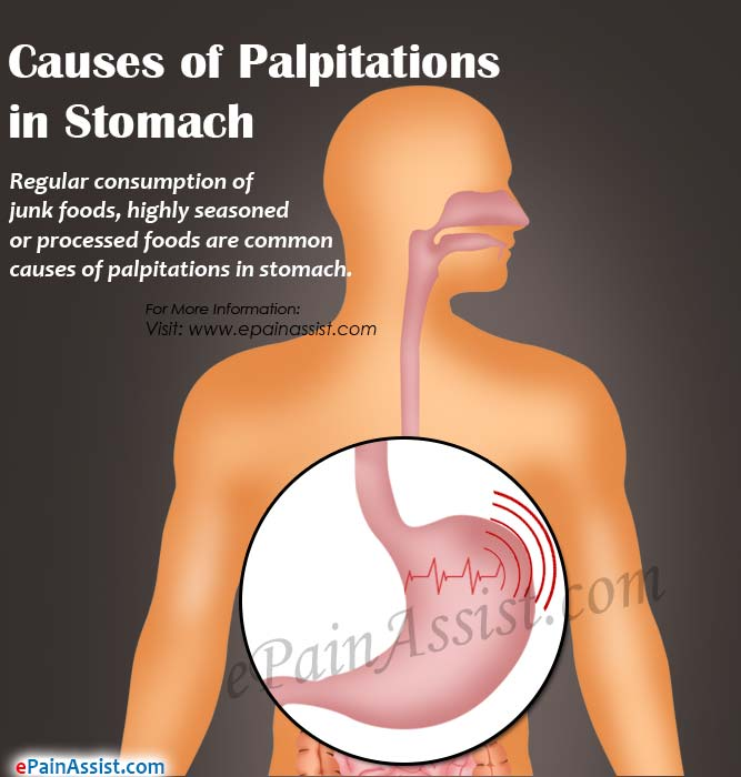 Causes of Palpitations in Stomach