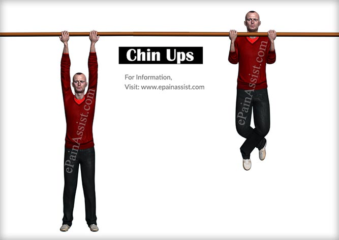 Chin Ups Workout for Arms Without Weights