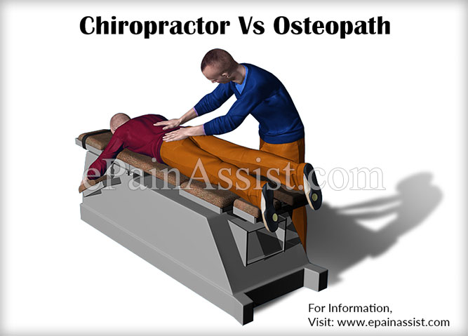 Chiropractor Vs Osteopath