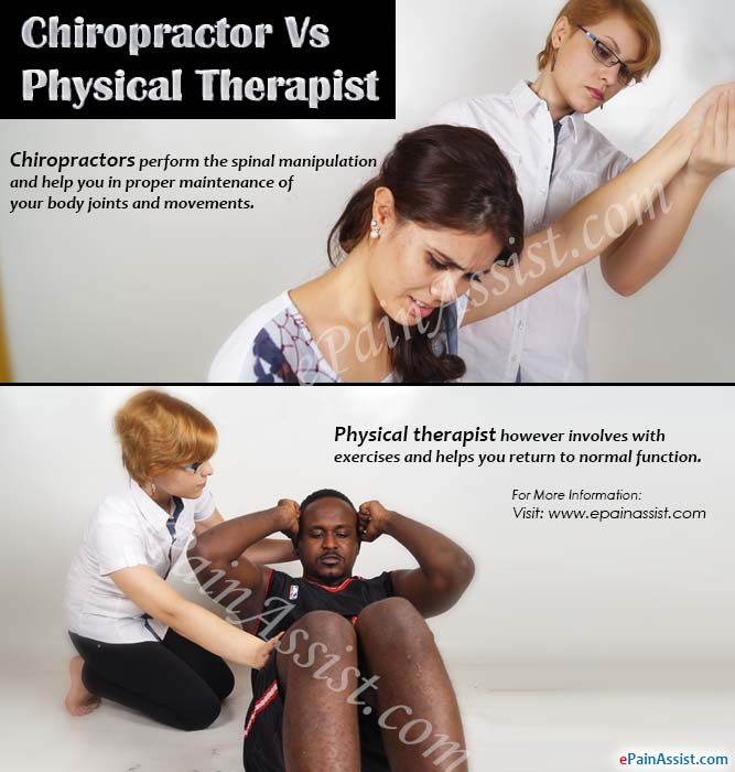 Chiropractor Vs Physical Therapist